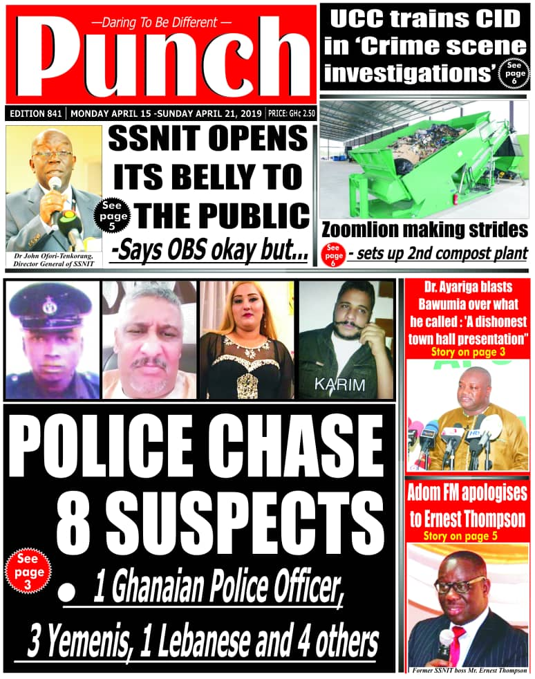 TOP GHANA NEWS HEADLINES FOR TODAY - MONDAY, 15TH APRIL, 2019